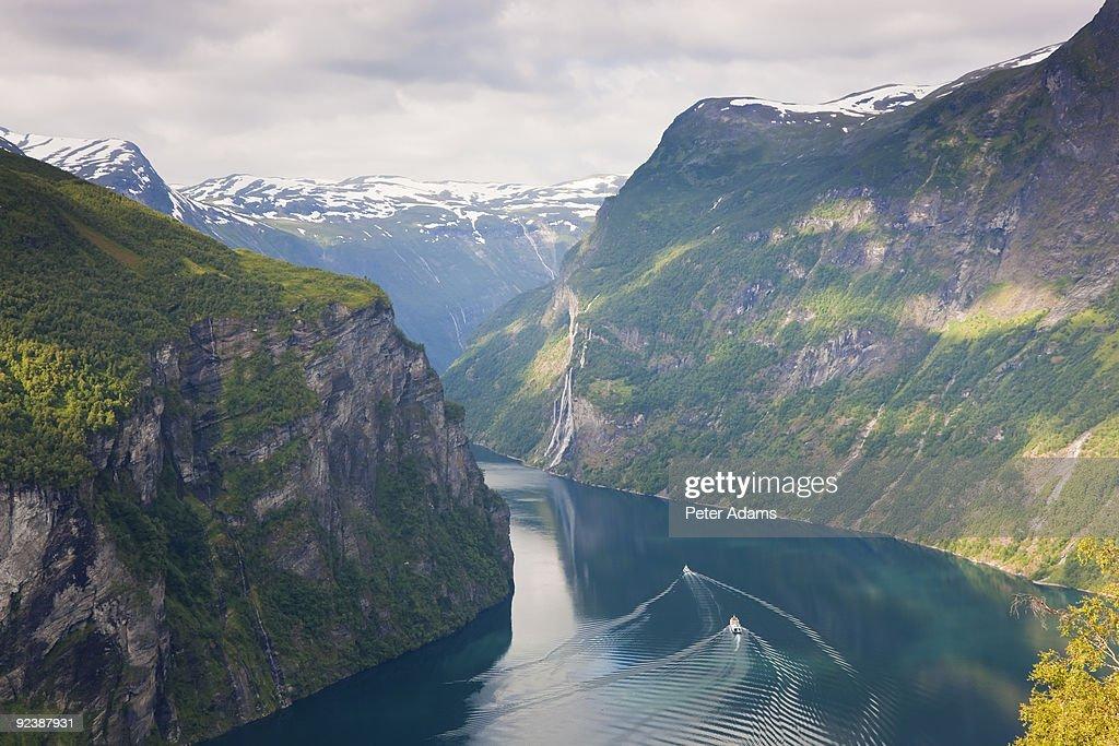 Geirangerfjord, Western fjords, Norway : Stock Photo