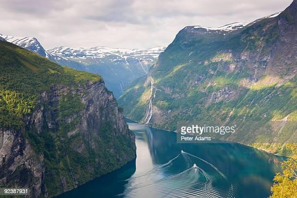 geirangerfjord, western fjords, norway - noruega fotografías e imágenes de stock