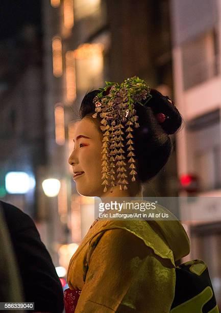 Geisha in the streets of gion kansai region kyoto Japan on May 25 2016 in Kyoto Japan