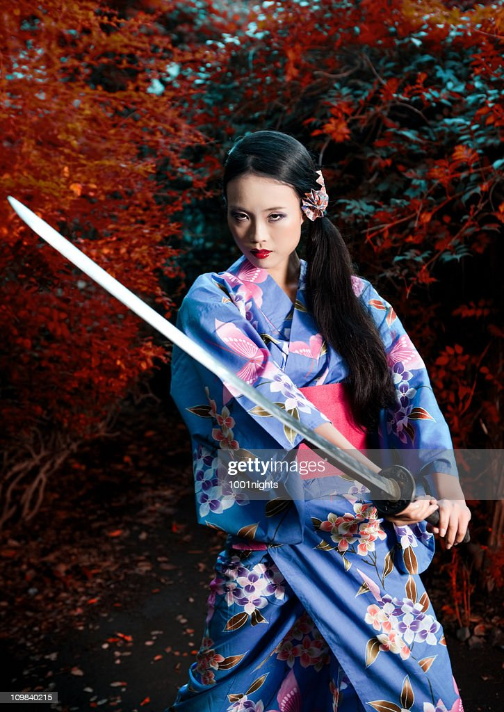 Geisha Samurai High Res Stock Photo Getty Images