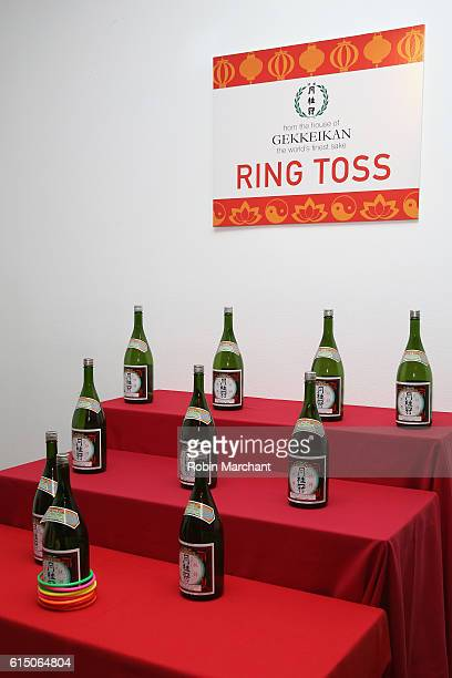 Gekkeikan Ring Toss at Lucky Chopsticks An Asian Night Market hosted by Andrew Zimmern at Metropolitan West on October 16 2016 in New York City
