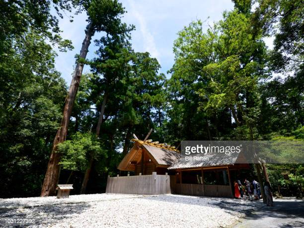 geku toyoukedaijingu  2000 year old shrine - kaze-no-miya shrine - 三重県伊勢市 ストックフォトと画像