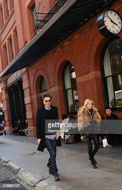 Gela Nash and John Taylor are seen walking in Soho on March 21 2014 in New York City