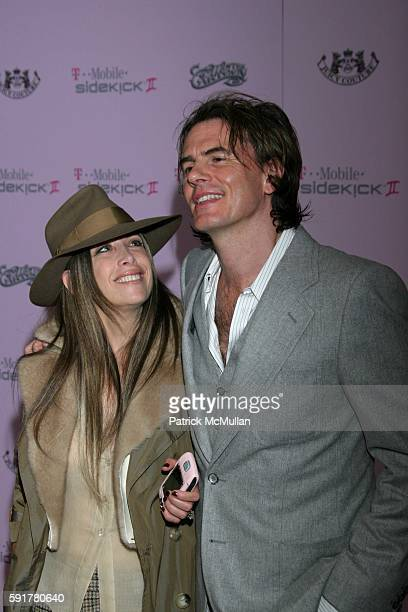 Gela Nash and John Taylor attend TMobile Sidekick II Limited Edition Juicy Couture and Mister Cartoon Launch Party at TMobile Sidekick II City on...