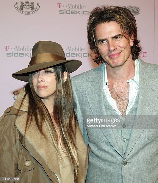 Gela Nash of Juicy Couture and John Taylor during T-Mobile Limited Edition Sidekick II Launch - Arrivals at T-Mobile Sidekick II City in Los Angeles,...