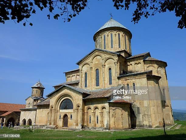 gelati monastery in georgia - frans sellies stockfoto's en -beelden