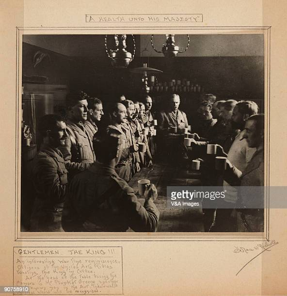 UNITED KINGDOM NOVEMBER 15 Gelatin silver print Photograph by Horace W Nicholls 'Gentlemen the King An interesting wartime reminiscence officers of...