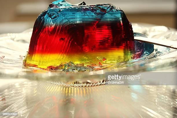 gelatina - gelatin dessert stock photos and pictures