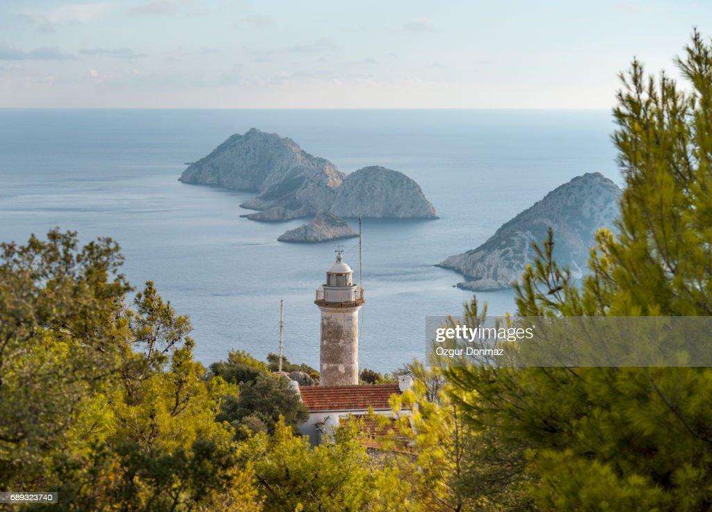 Gelidonya lighthouse, Antalya, Turkey : Stock Photo