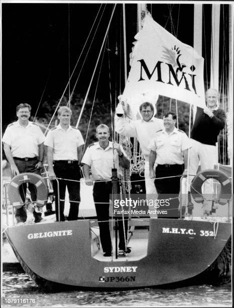 Gelignite a 35 ft aluminum yacht with crew squad leader Evan Johnston leading aircraftsman Andrew Fleming Hugh Cameron Flt Sgt Pete Jones And Don...