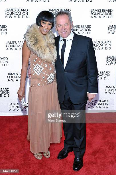 Gelila Assefa and Wolfgang Puck attend the 2012 James Beard Foundation Awards at Avery Fisher Hall at Lincoln Center for the Performing Arts on May 7...