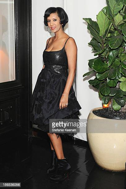 Gelila Assefa attends Dom Perignon and W Magazine's celebration of The Golden Globes at Chateau Marmont on January 11 2013 in Los Angeles California