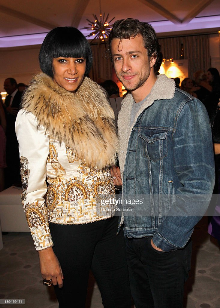 Gelila Assefa Puck (L) and guest attend the Vanity Fair Montblanc party celebrating The Collection Princesse Grace de Monaco held at Hotel Bel-Air Los Angeles on February 21, 2012 in Los Angeles, California.