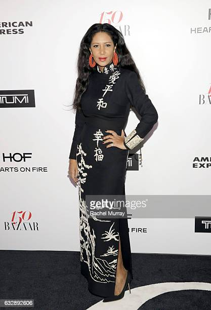 Gelila Assefa Puck attends Harper's BAZAAR celebration of the 150 Most Fashionable Women presented by TUMI in partnership with American Express La...