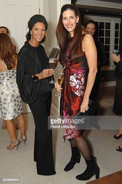 Gelila Puck and Liane Weintraub attend Monique Lhuillier and Tom Bugbee celebrate their new home in honor of Margaret Russell and ELLE DECOR at...