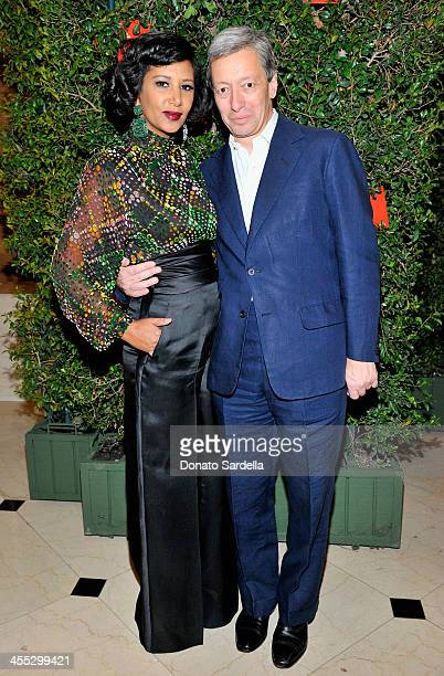 Gelila Puck and perfumer Frederic Malle attend a private dinner in honor of Frederic Malle hosted by Barneys New York and Gelila Puck at CUT Sidebar...