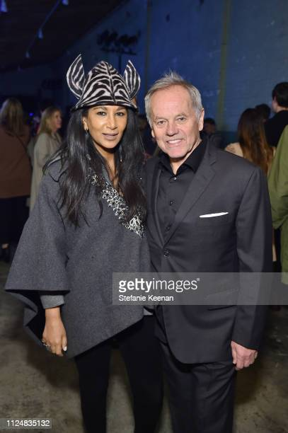 Gelila Puck and Wolfgang Puck attend Hauser Wirth Los Angeles Opening of Annie Leibovitz and Piero Manzoni and Musical Performance by Patti Smith at...