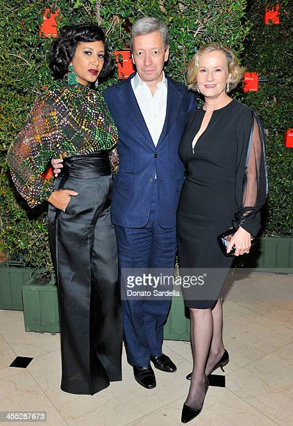 Gelila Puck perfumer Frederic Malle and Anne Crawford attend a private dinner in honor of Frederic Malle hosted by Barneys New York and Gelila Puck...