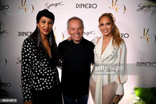 Gelila Puck Wolfgang Puck and Jennifer Lopez arrive at Spago at Bellagio on May 20 2018 in Las Vegas Nevada
