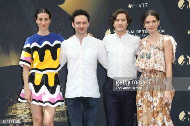 GElisa Lasowski George Blagden Alexander Vlahos and Anna Brewster attends photocall for 'Versailles' on June 17 2017 at the Grimaldi Forum in...