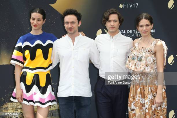GElisa Lasowski George Blagden Alexander Vlahos and Anna Brewster attend photocall for 'Versailles' on June 17 2017 at the Grimaldi Forum in...