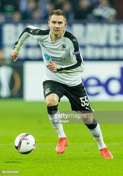 Gelsenkirchen Germany UEFA Europa League 2016/17 Season Gruppenphase 4 Spieltag Matchday 4 FC Schalke 04 FC Krasnodar Artur Jedrzejczyk