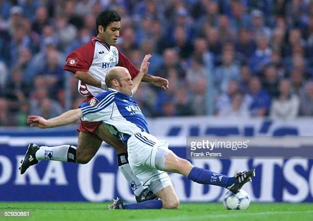 BUNDESLIGA 99/00 Gelsenkirchen SCHALKE 04 HAMBURGER SV Mehdi MAHDAVIKIA/HSV Yves EIGENRAUCH/Schalke