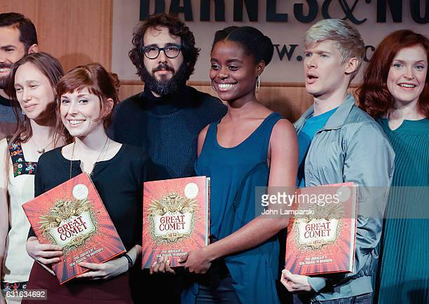 Gelsey Bell guest Josh Groban Denee Benton Lucas Steele Brittain Ashford and the cast and creative team celebrate the release of the new book 'The...