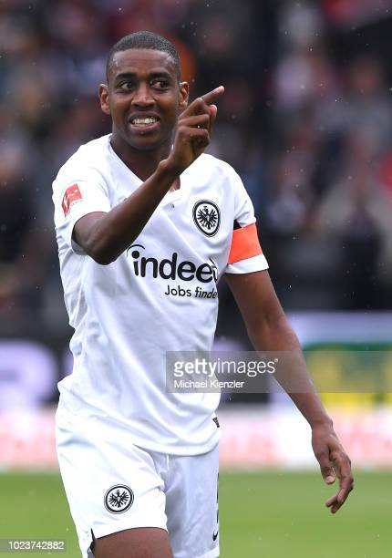 Gelson Fernandes of Eintracht Frankfurt reacts during the Bundesliga match between Sport Club Freiburg and Eintracht Frankfurt at SchwarzwaldStadion...