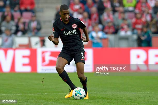 Gelson Fernandes of Frankfurt controls the ball during the Bundesliga match between 1 FC Koeln and Eintracht Frankfurt at RheinEnergieStadion on...