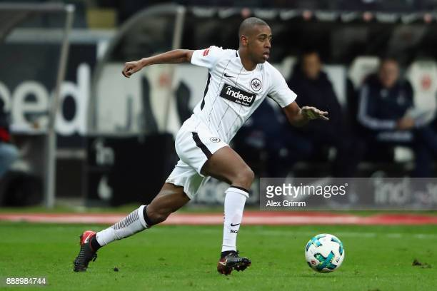 Gelson Fernandes of Frankfurt controls the ball during the Bundesliga match between Eintracht Frankfurt and FC Bayern Muenchen at CommerzbankArena on...