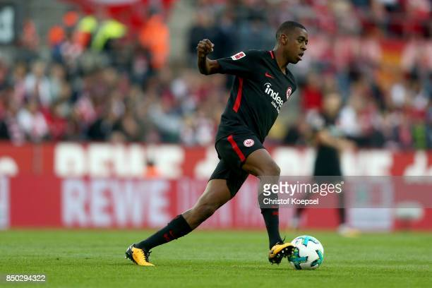 Gelson Fernandes of Frankfurt runs with the ball during the Bundesliga match between 1 FC Koeln and Eintracht Frankfurt at RheinEnergieStadion on...