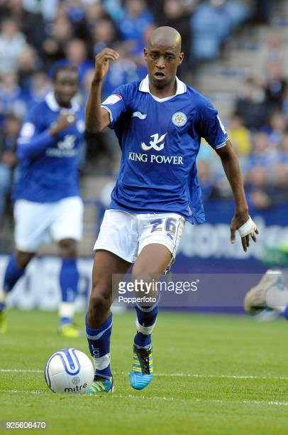Gelson Fernandes of Leicester City in action during the Championship match between Leicester City v Southampton at the King Power Stadium in...