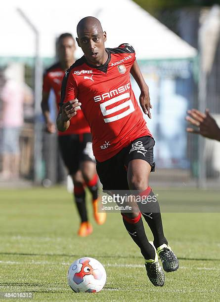Gelson Fernandes of Rennes in action during the friendly match between Stade Rennais and Stade Brestois at Stade FredAubert on July 11 2015 in Saint...