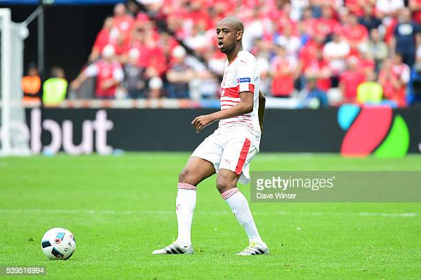 Gelson Fernandes of Switzerland during GroupA preliminary round between Albania and Switzerland at Stade BollaertDelelis on June 11 2016 in Lens...