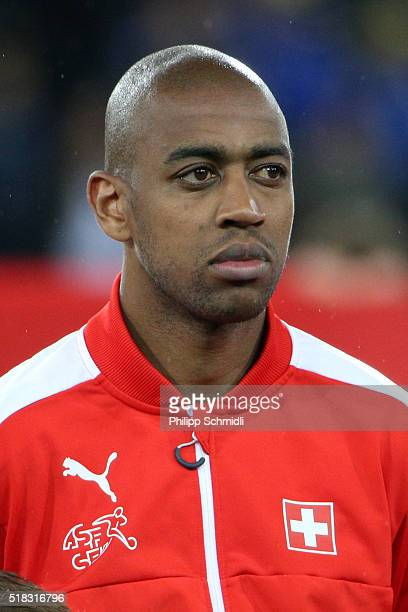 Gelson Fernandes of Switzerland looks on prior to the international friendly match between Switzerland and BosniaHerzegovina at Stadium Letzigrund on...