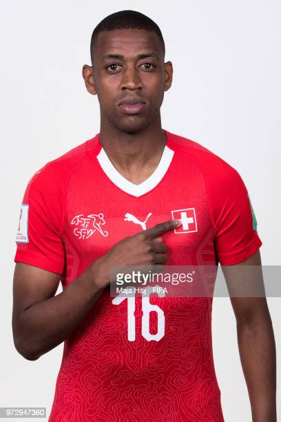 Gelson Fernandes of Switzerland poses for a portrait during the official FIFA World Cup 2018 portrait session at the Lada Resort on June 12 2018 in...