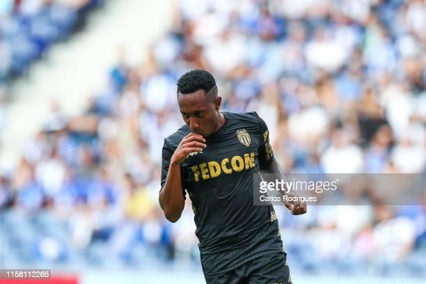 Gelson Martins of AS Monaco celebrates scoring AS Monaco goal during the match FC Porto v AS Monaco - Pre-Season Friendly at Estadio do Dragao on...