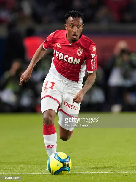 Gelson Martins of AS Monaco during the French League 1 match between Paris Saint Germain v AS Monaco at the Parc des Princes on January 12, 2020 in...