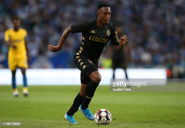 Gelson Martins of AS Monaco in action during the PreSeason Friendly match between FC Porto and AS Monaco at Estadio do Dragao on July 27 2019 in...