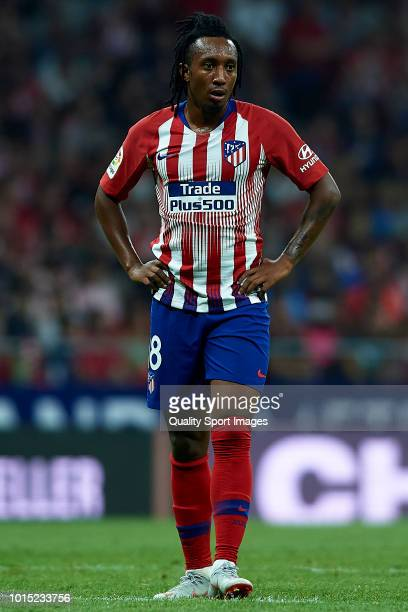 Gelson Martins of Atletico de Madrid looks on during the International Champions Cup 2018 match between Atletico de Madrid and FC Internazionale at...