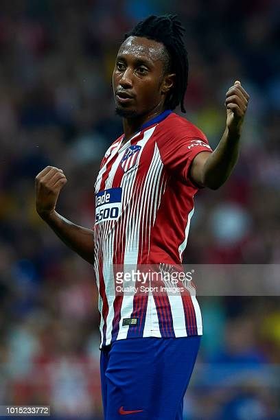 Gelson Martins of Atletico de Madrid reacts during the International Champions Cup 2018 match between Atletico de Madrid and FC Internazionale at...