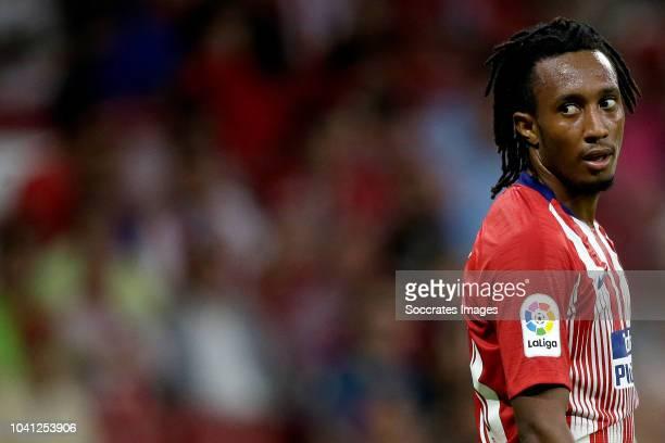 Gelson Martins of Atletico Madrid during the La Liga Santander match between Atletico Madrid v SD Huesca at the Estadio Wanda Metropolitano on...