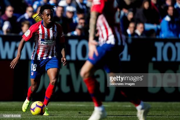 Gelson Martins of Atletico Madrid during the La Liga Santander match between Leganes v Atletico Madrid at the Estadio Municipal de Butarque on...
