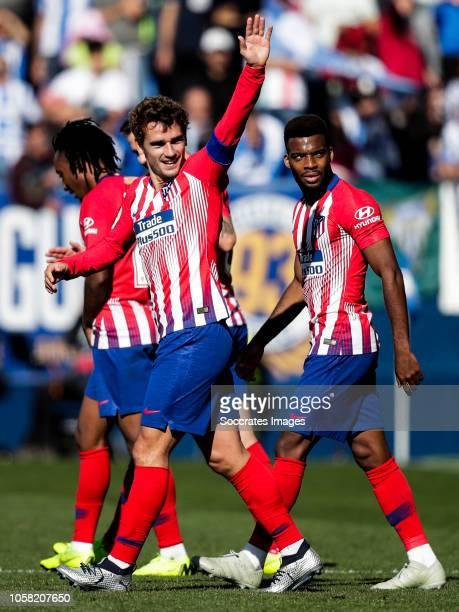 Gelson Martins of Atletico Madrid Saul Niguez of Atletico Madrid Antoine Griezmann of Atletico Madrid Thomas Lemar of Atletico Madrid during the La...