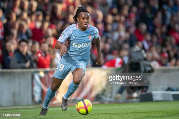 May 11: Gelson Martins of Monaco in action during the Nimes V Monaco, French Ligue 1, regular season match at Stade des Costières on May 11th 2019,...