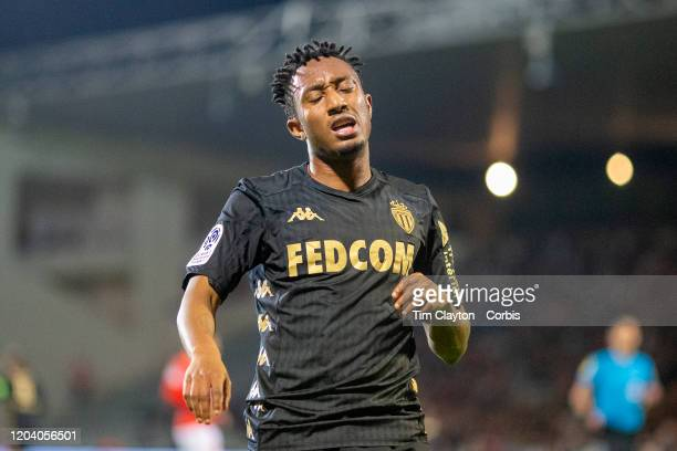 February 01: Gelson Martins of Monaco reacts after a missed chance during the Nimes V Monaco, French Ligue 1, regular season match at Stade des...