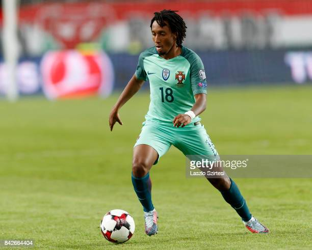 Gelson Martins of Portugal controls the ball during the FIFA 2018 World Cup Qualifier match between Hungary and Portugal at Groupama Arena on...