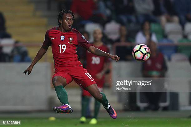 Gelson Martins of Portugal in action during the 2018 FIFA World Cup Qualifiers matches between Portugal and Andorra in Municipal de Aveiro Stadium on...