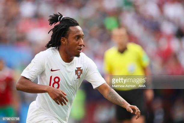Gelson Martins of Portugal in action during the 2018 FIFA World Cup Russia group B match between Portugal and Morocco at Luzhniki Stadium on June 20...